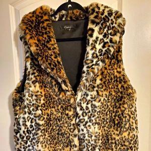 Faux Fur Cheetah Vest